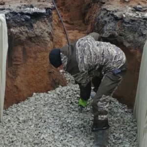 Подготовка грунта перед монтажом автономной канализации