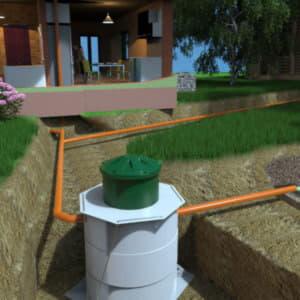 Автнономная канализация в загородном коттедже