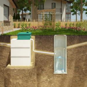 Схема работы автономной канализации