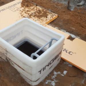 Монтаж пластиковых погребов
